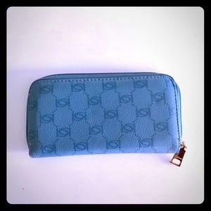 bebe Bags - Blue Bebe Honeycomb Logo Wallet